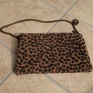 J. Crew Bags - J. Crew leather cheetah animal print purse